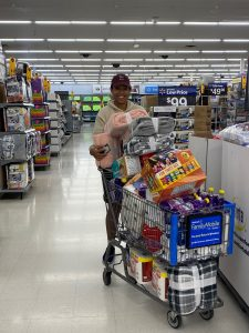 Shopping for relief items