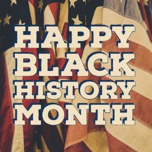 US flag Black History Month